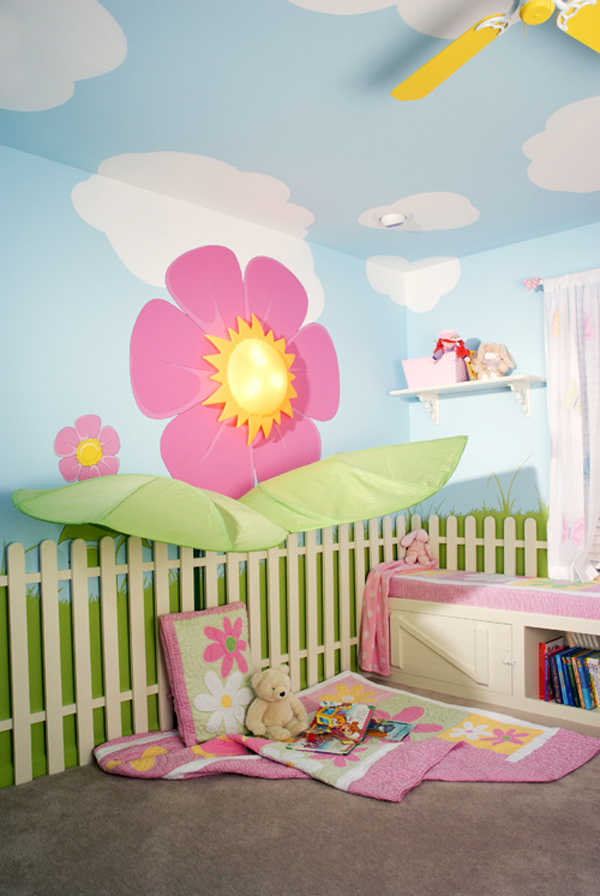 flowers Fantasy Fairy-tale Bedroom Interior Designs for Kids for any dream home bedroom (1)