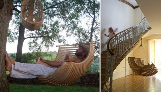 Hanging Chairs by Concept Suspendu:Place of Relaxation