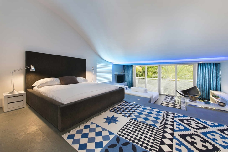 main bedroom desing High-End-Luxurious-Modern-Mansion-with-Colorful-Lighting-at-Nigh