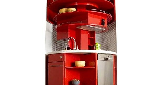 Contemporary Approach to Kitchen Design: Home Circled Kitchen for Small Spaces by Compact Concepts small