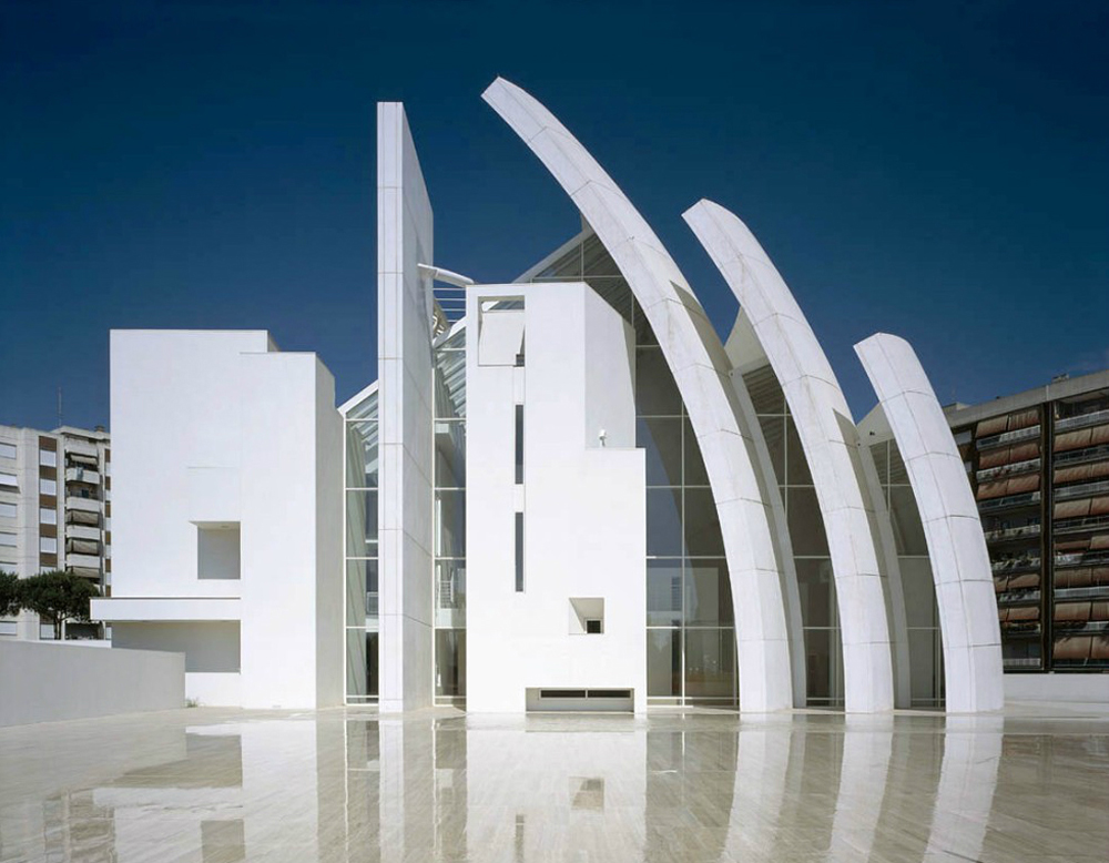 Iconic Modern Architecture-Jubilee Church in Rome by Richard Meier and Partners Homesthetics