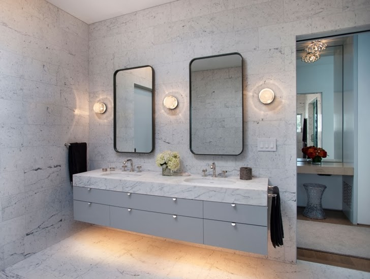 bathroom design Luxurious Modern Family Home Located in Venice-California by Dennis Gibbens Architects homesthetics (21)