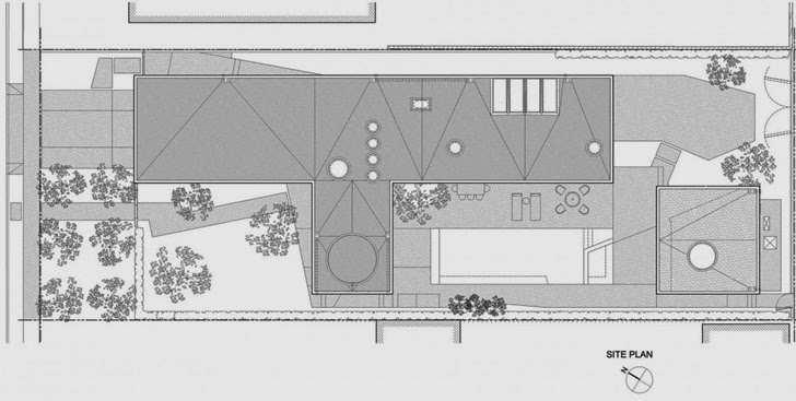 blueprint floor plan of the Luxurious Modern Family Home Located in Venice-California by Dennis Gibbens Architects homesthetics (21)