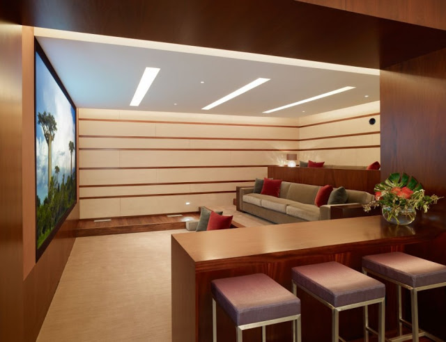 cinema room in Luxurious Modern Mansion Design in California - Mandeville Canyon Residence in contemporary style using sustainable materials homesthetics (1)