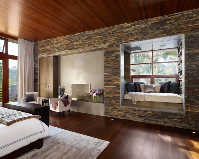 small bedroom design in Luxurious Modern Mansion Design in California - Mandeville Canyon Residence in contemporary style using sustainable materials homesthetics (1)