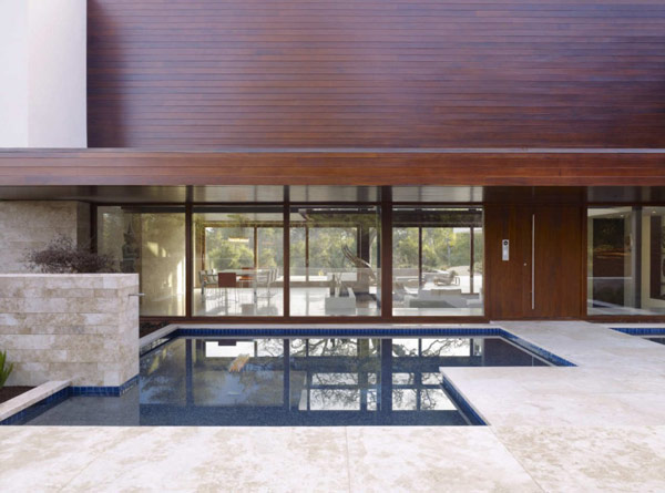 swimming pool Modern Cliff View Residence Shining in a Contemporary Style- OZ House California modern mansion (1)