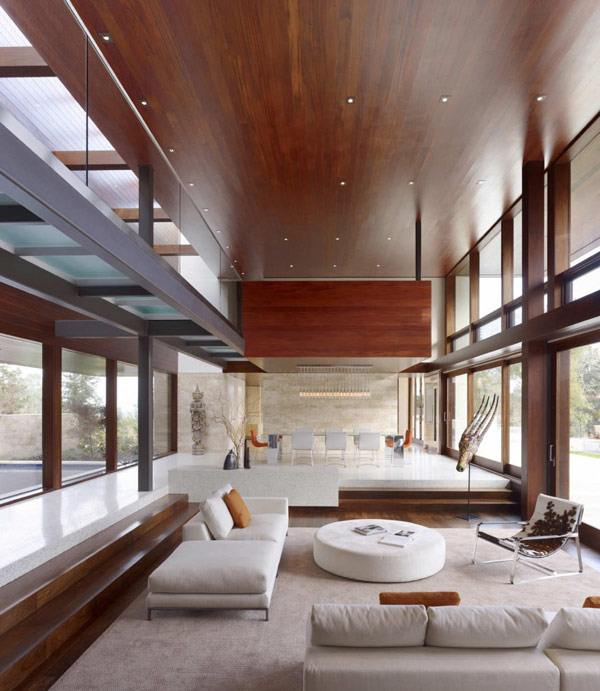 staircase design Modern Cliff View Residence Shining in a Contemporary Style- OZ House California modern mansion (1)