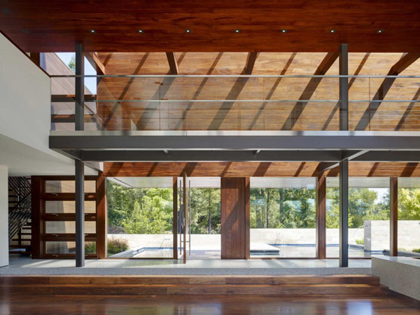 extraordinary transparency and glass trough Modern Cliff View Residence Shining in a Contemporary Style- OZ House California modern mansion (1)