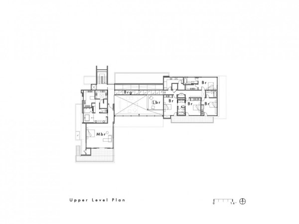 plan blueprint of the Modern Cliff View Residence Shining in a Contemporary Style- OZ House California modern mansion (1)