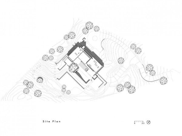 aerial view of the Modern Cliff View Residence Shining in a Contemporary Style- OZ House California modern mansion (1)