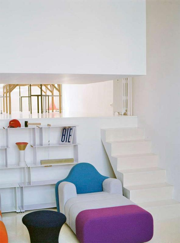 colorful apartment Modern Innovative Valentin Apartment by Emmanuel Combarel Dominique Marrec