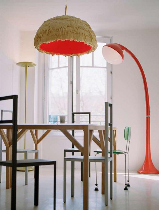 colorful Modern Innovative Valentin Apartment by Emmanuel Combarel Dominique Marrec with red accents