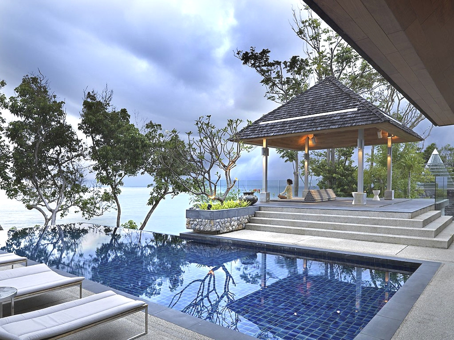 luxurious design into Modern Retreat - Ocean Front Dream House in Phuket on Sale