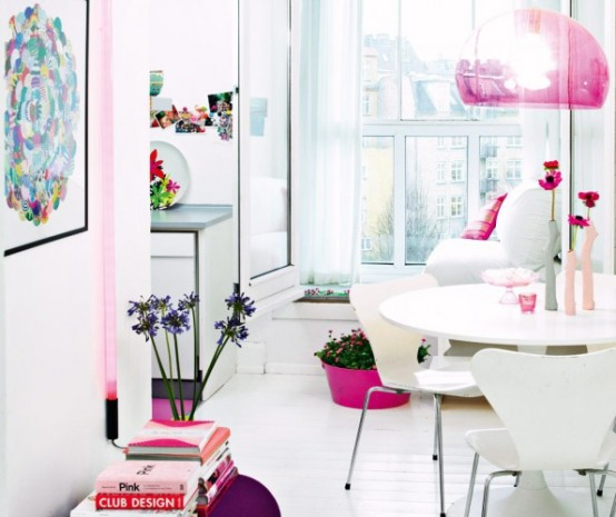 Pink Feminine Apartment by Laura Terp Hansen modern touch