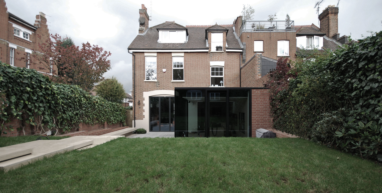 Rear Modern Mansion Extension Garden Design By Lbmv Architects Homesthetics Inspiring Ideas