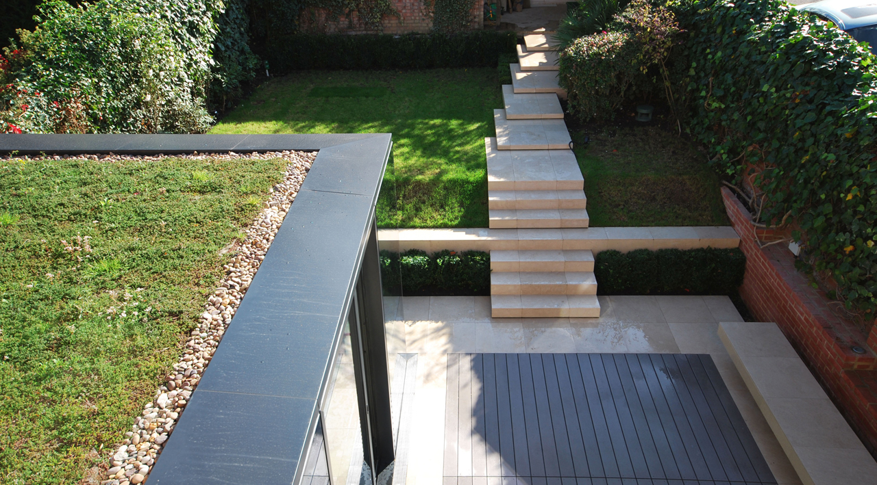 Rear House Extension Garden Design by LBMV Architects
