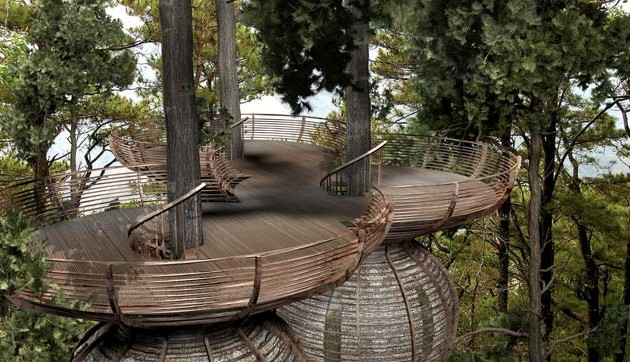 Roost Treehouse by Antony Gibbon  platforms