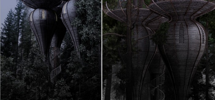 Roost Treehouse by Antony Gibbon rendering