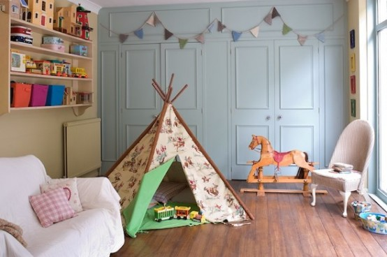 Simple Bedroom Interior Design Ideas Featuring Play Tents for Kids to fit any modern home homesthetics (18)