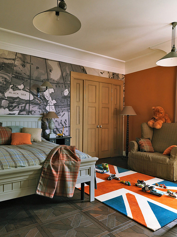 small colorful bedroom interior design The 13 Fox Masques Apartment by Akinkin & Avrutskaya Moscow,Russia