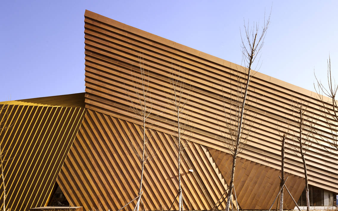 The Cocoon: Low Energy Architecture by Mochen Architects & Engineers in Tianjin, China wooden panels