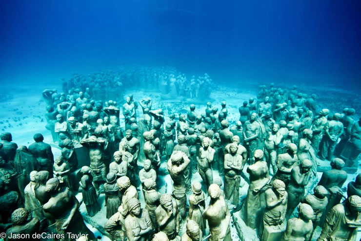 Underwater Sculptures  by Jason de Caires Taylor army