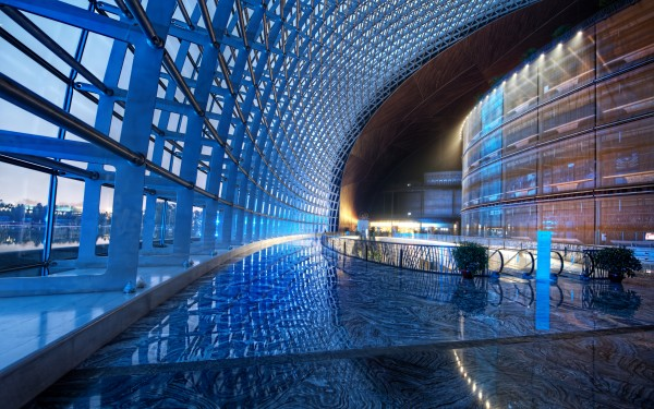 interior of the Unique Egg Shape-National Centre for the Performing Arts in Beijing by Paul Andreu homesthetics (1)