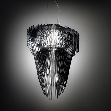 Zaha Hadid for Slamp Aria and Avia Lamps Unveiled rich