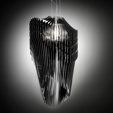 Zaha Hadid for Slamp Aria and Avia Lamps Unveiled black