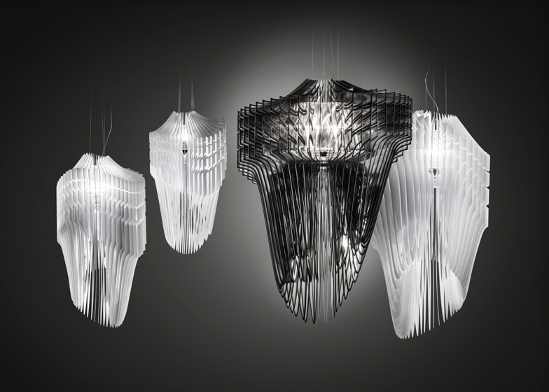 Zaha Hadid for Slamp Aria and Avia Lamps Unveiled modern