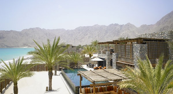 perspective view over A Drop of Heaven – Six Senses Zighy Bay Resort – Northern Musandam Peninsula