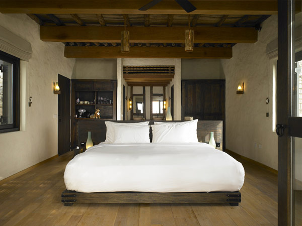 bedroom design in the A Drop of Heaven – Six Senses Zighy Bay Resort – Northern Musandam Peninsula