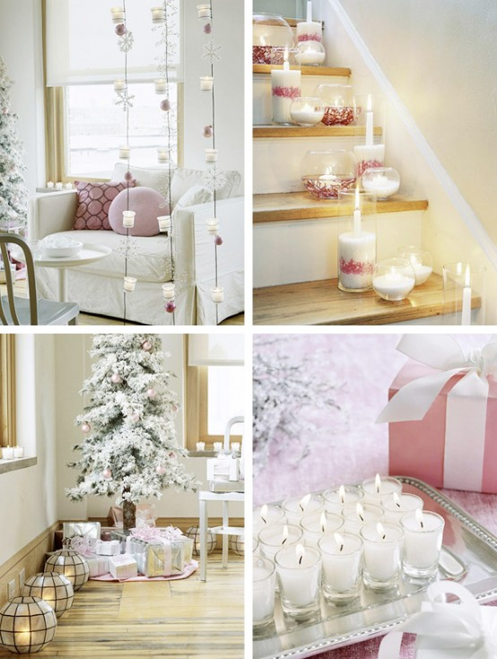 amazing impecable white and pink amazing Creative & Inspiring Modern Christmas Centerpieces Ideas homesthetics xmas (1)