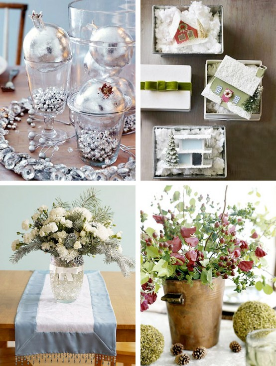 simple white flowers amazing Creative & Inspiring Modern Christmas Centerpieces Ideas homesthetics xmas (1)