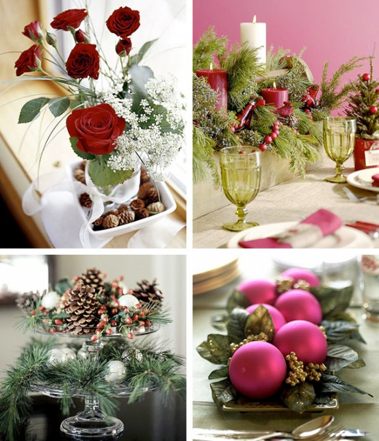 purple pink and greenamazing Creative & Inspiring Modern Christmas Centerpieces Ideas homesthetics xmas (1)