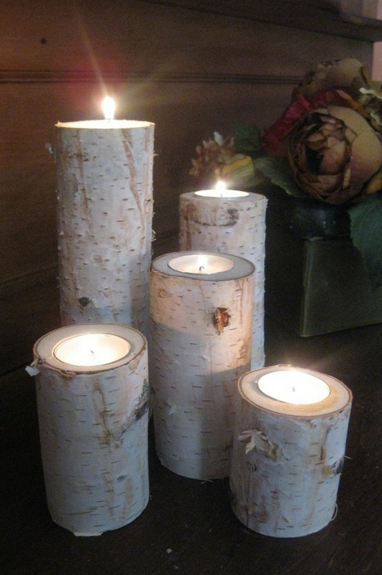 candles in wood amazing Creative & Inspiring Modern Christmas Centerpieces Ideas homesthetics xmas (1)