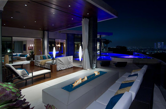 blue jay way street Extraordinary Cliff View Modern Mansion Located on the Sunset Boulevard in Hollywood Hills homesthetics (1)