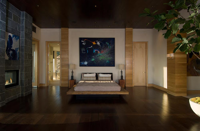 bedroom interior design blue jay way street Extraordinary Cliff View Modern Mansion Located on the Sunset Boulevard in Hollywood Hills homesthetics (19)