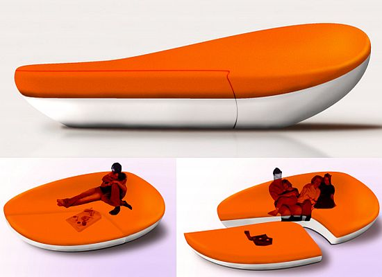 Orange Modular Furniture Extraordinary Unusual Furniture Design  For Interior Design