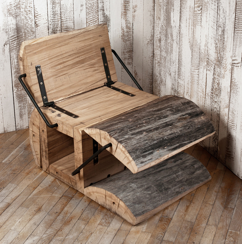 Furniture Furniture: Experimental Furniture-Minimalist Recycled Oak Chair By
