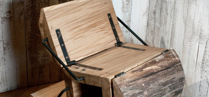 Experimental Furniture Minimalist Recycled Oak Chair By