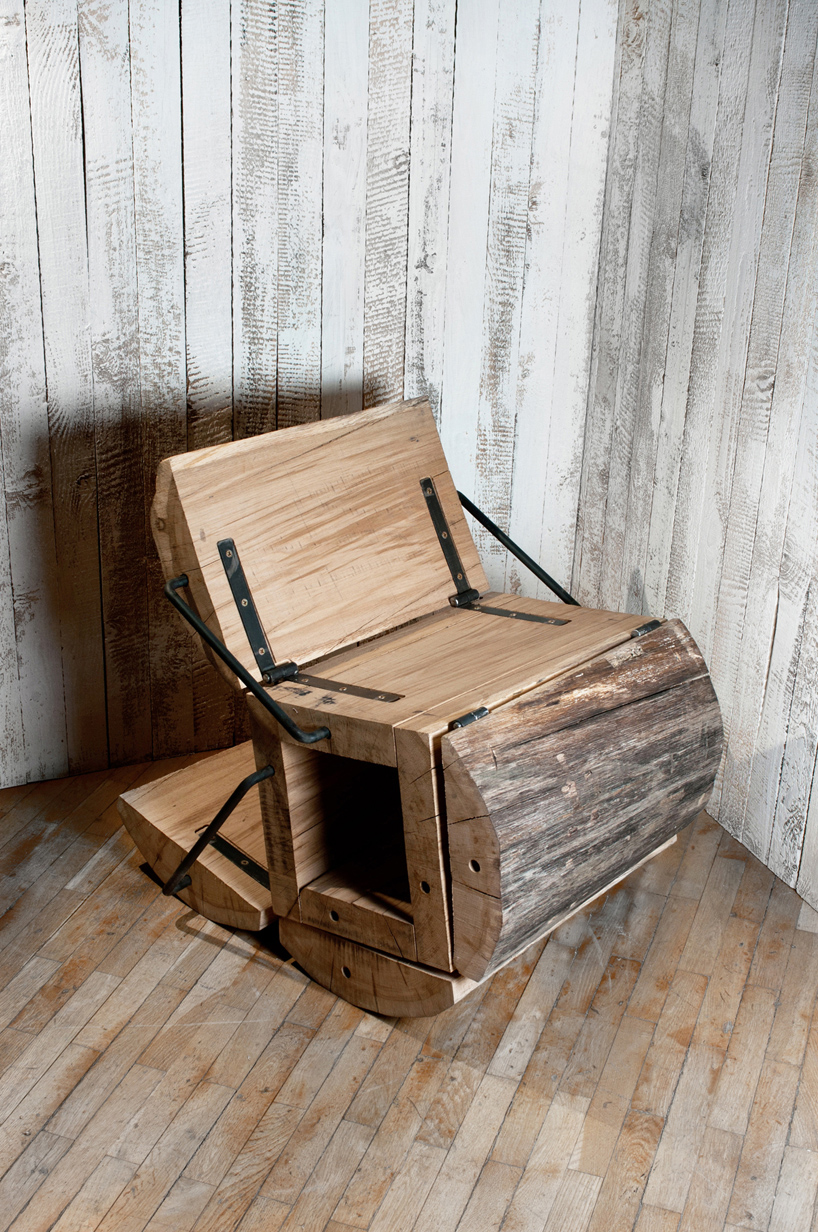 modern Experimental Furniture-Minimalist Recycled Oak Chair by Architecture Uncomfortable Workshop homesthetics (1)