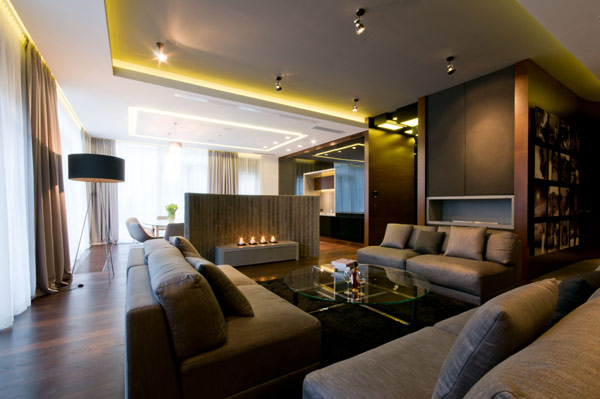 Luxurious High End Warsaw Apartment by Hola Design in Poland