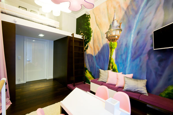 colorful and creative childs room modern Luxurious High End Warsaw Apartment by Hola Design in Poland homesthetics  (14)