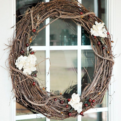 rustic autumn decorations for exterior interior DIY projects for the fall with homesthetics  (1)