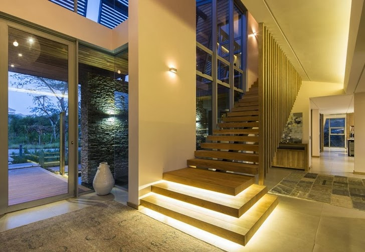 staircase Albizia House - Cliff View Modern Mansion by Metropole Architects homesthetics (1)