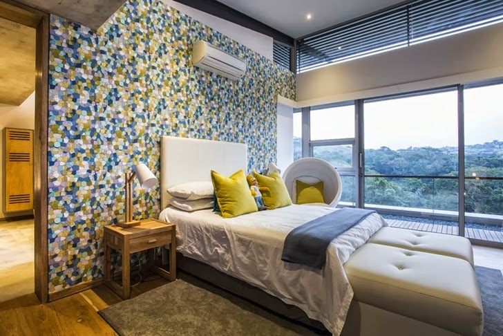 bedroom interior design Albizia House - Cliff View Modern Mansion by Metropole Architects homesthetics (1)