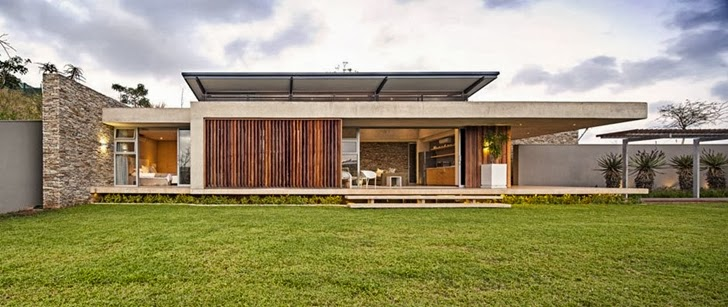 backyard landscaping Albizia House - Cliff View Modern Mansion by Metropole Architects homesthetics (1)