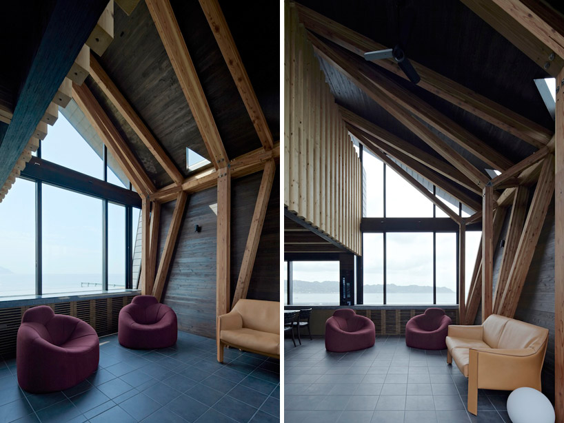 luxurious living romm in Amazing Wooden Made Modern Mansion-Villa SSK by Takeshi Hirobe Architects Homesthetics