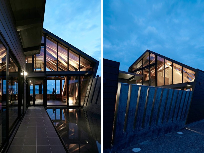 backyard landscaping design in Amazing Wooden Made Modern Mansion-Villa SSK by Takeshi Hirobe Architects Homesthetics